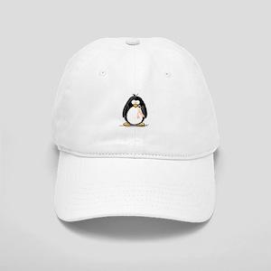 Peach Ribbon Penguins Cap