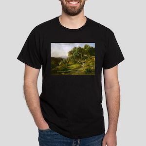 A view Near Volterra by Jean-Baptiste-Cami T-Shirt