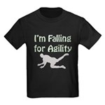 Falling for Agility Kids Dark T-Shirt