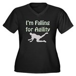 Falling for Agility Women's Plus Size V-Neck Dark