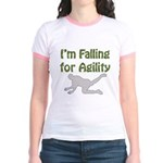 Falling for Agility Jr. Ringer T-Shirt