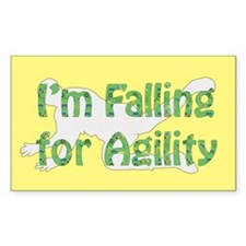 Falling for Agility Rectangle Sticker