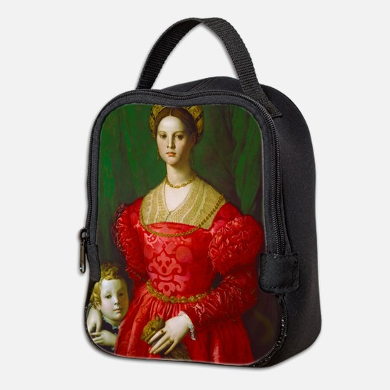 A Young Woman and Her Boy by Ag Neoprene Lunch Bag