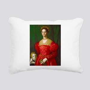 A Young Woman and Her Bo Rectangular Canvas Pillow