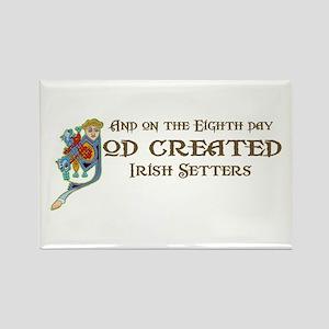 God Created Setters Rectangle Magnet