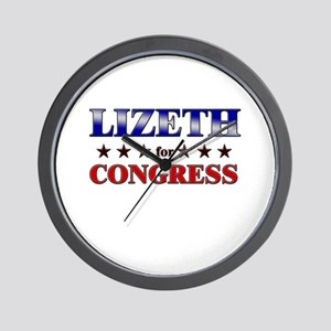 LIZETH for congress Wall Clock