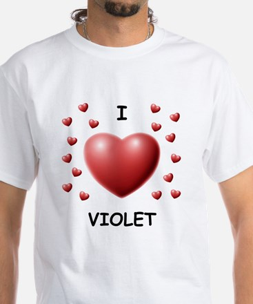 I Love Violet - White T-Shirt