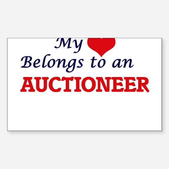 My Heart Belongs to an Auctioneer Decal