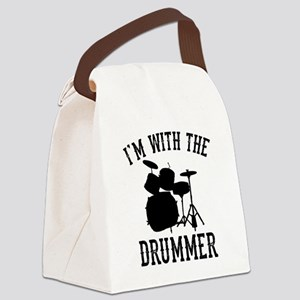 I'm With The Drummer Canvas Lunch Bag