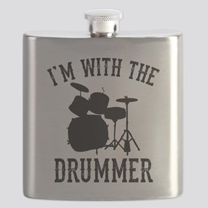 I'm With The Drummer Flask
