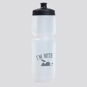 I'm With The Drummer Sports Bottle