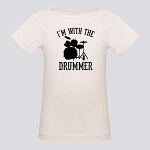 I'm With The Drummer Organic Baby T-Shirt