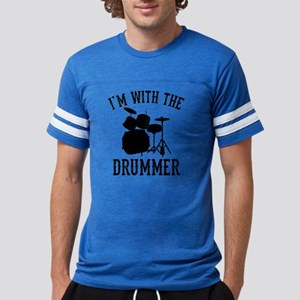 I'm With The Drummer Mens Football Shirt