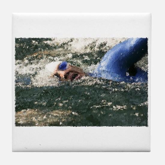 OPEN WATER SWIMMER Tile Coaster