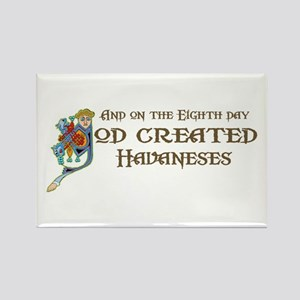 God Created Havaneses Rectangle Magnet