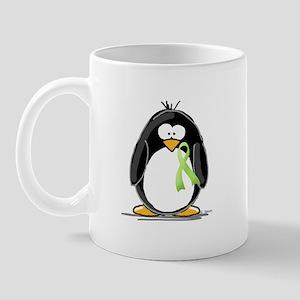 Light Green Ribbon Penguin Mug