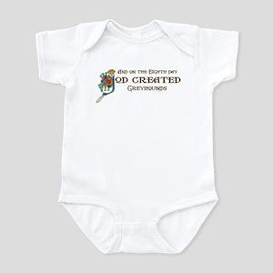 God Created Greyhounds Infant Bodysuit