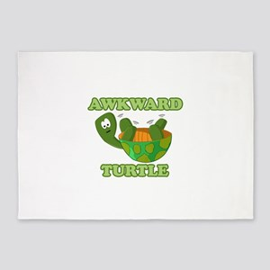 Awkward Turtle 5'x7'Area Rug