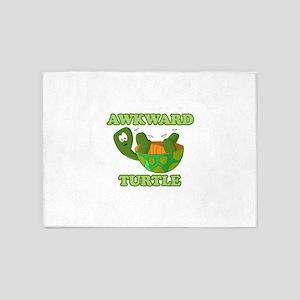 Awkward Turtle 5'x7'Area Rug
