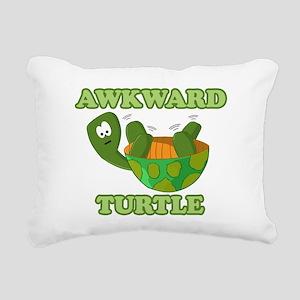 Awkward Turtle Rectangular Canvas Pillow