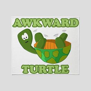 Awkward Turtle Throw Blanket