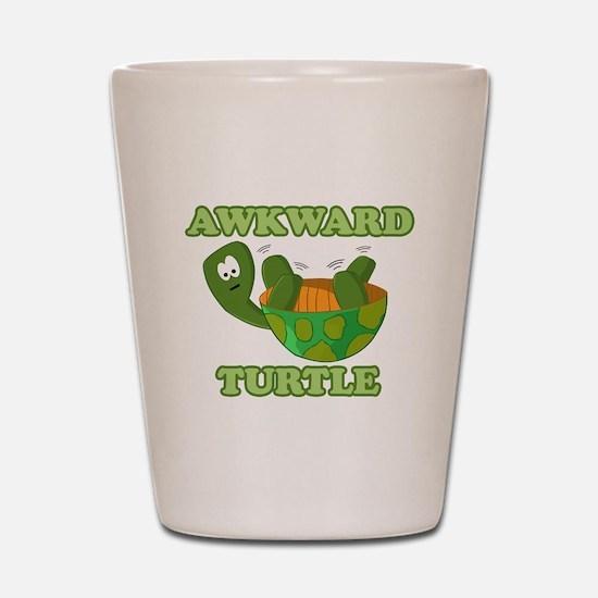 Awkward Turtle Shot Glass