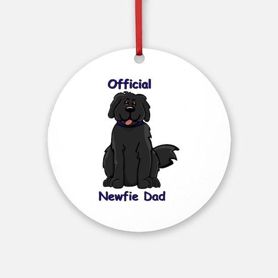 Newfie Dad Ornament (Round)