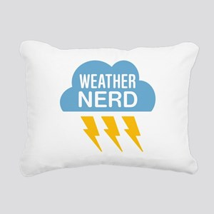 Weather Nerd Rectangular Canvas Pillow