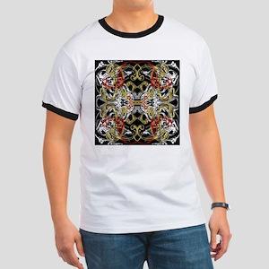 modern red,gold,black,white pattern T-Shirt