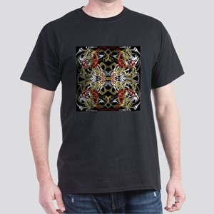 modern red,gold,black,white pattern T-Shirt