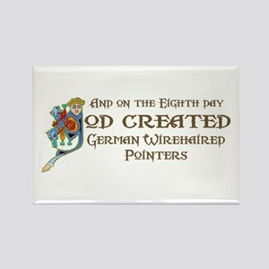 God Created Pointers Rectangle Magnet