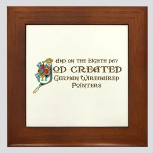 God Created Pointers Framed Tile