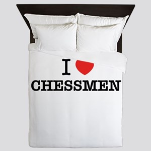 I Love CHESSMEN Queen Duvet