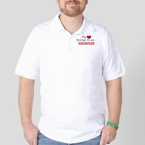 My Heart Belongs to an Engineer Golf Shirt