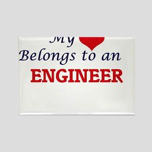 My Heart Belongs to an Engineer Magnets