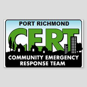 Port Richmond CERT Rectangle Sticker