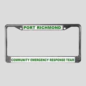 Port Richmond CERT License Plate Frame