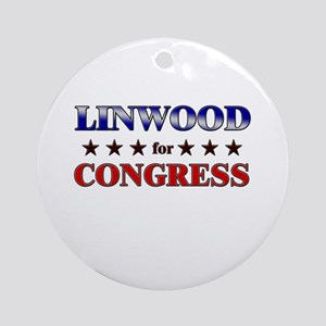 LINWOOD for congress Ornament (Round)
