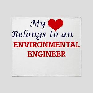 My Heart Belongs to an Environmental Throw Blanket