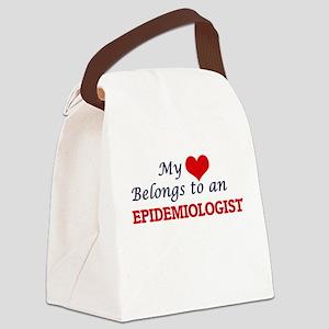 My Heart Belongs to an Epidemiolo Canvas Lunch Bag
