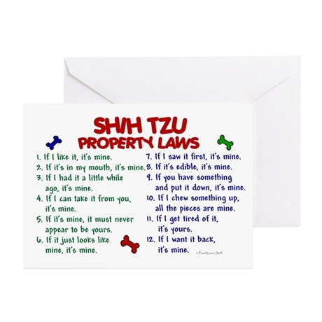 Shih Tzu Property Laws 2 Greeting Cards (Pk of 20)