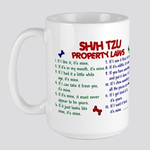 Shih Tzu Property Laws 2 Large Mug