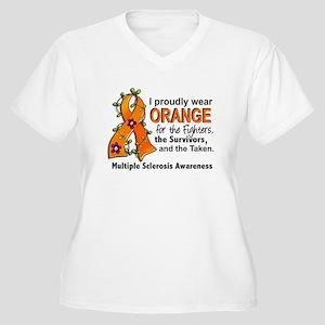 For Fighters Surv Women's Plus Size V-Neck T-Shirt