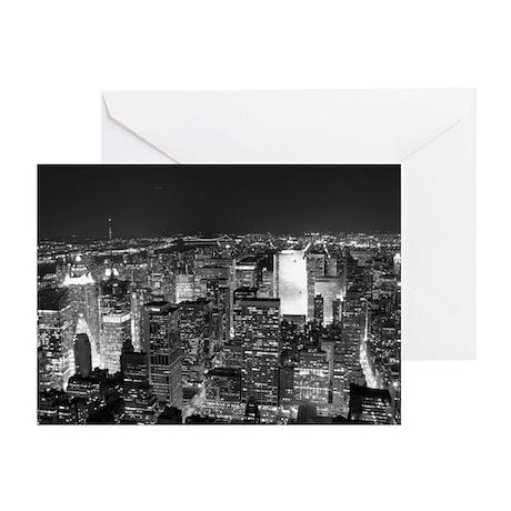 Midtown, At Night Greeting Cards (6)