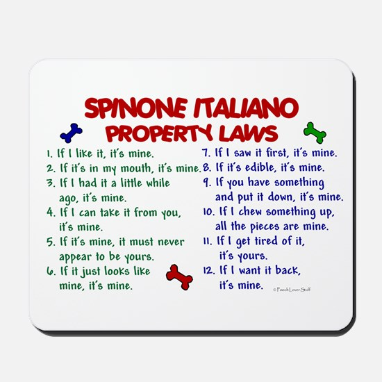 Spinone Italiano Property Laws 2 Mousepad