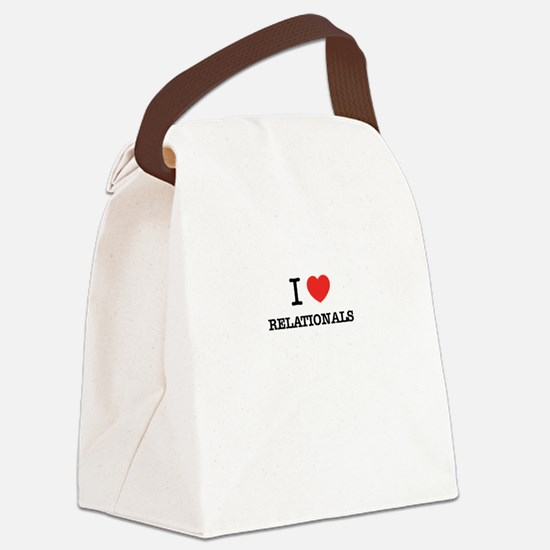I Love RELATIONALS Canvas Lunch Bag