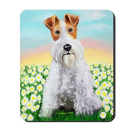 Wire Fox Terrier Daisy Mousepad