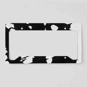 black and white brushstroke License Plate Holder