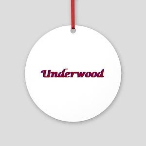 Underwood Ornament (Round)
