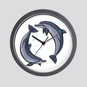 Spinner Dolphins Wall Clock